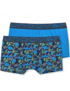 Uncover Trunk Short 2Pack mixed Schiesser Blue stripe