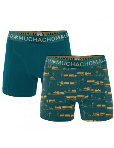MuchachoMalo Cotton Modal Train 2Pack Heren Boxershorts