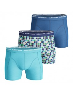 Björn Borg Short 3Pack Basic Check Monaco Blue