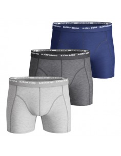 Björn Borg Boxershorts 3Pack Basic Seasonal Solids Grey
