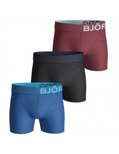 Björn Borg Boxershorts 3Pack Basic Seasonal Solids Vallarta Blue