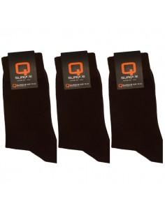 Suaque Heren sokken 3Pack 43-46 Bruin Cotton Comfort