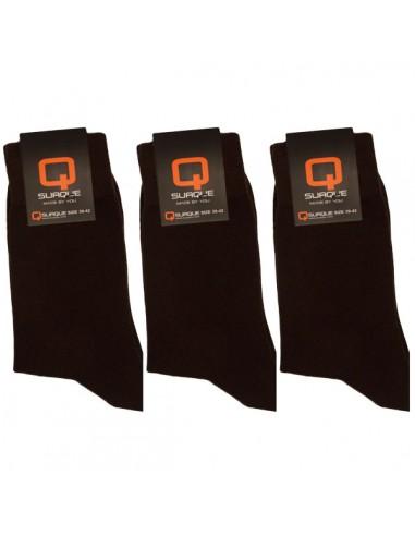 Suaque Heren Sokken 3Pack 39-42 Bruin Cotton Comfort