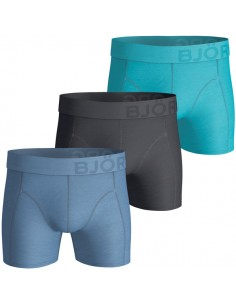 Björn Borg Boxershorts 3Pack Seasonal Solids Lake Blue