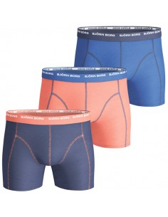 Björn Borg Boxershorts 3Pack Basic Seasonal Solids Contrast Nautical Blue