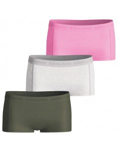 Bjorn Borg Dames Mini Short 3Pack Basic Wild Orchid