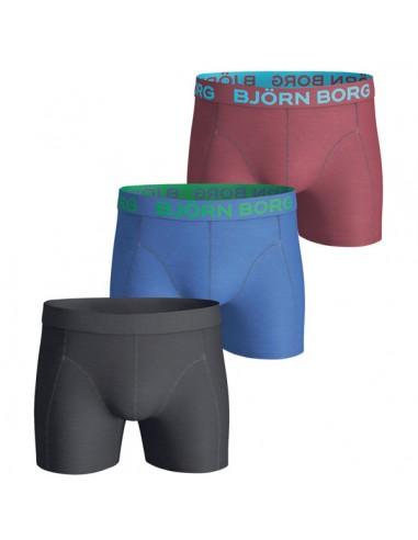 Björn Borg Boxershorts 3Pack Seasonal Solids Black
