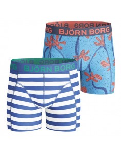 Bjorn Borg Twisted Palm Horizon Heritage Blue 2Pack Boxershorts Jongens Ondergoed