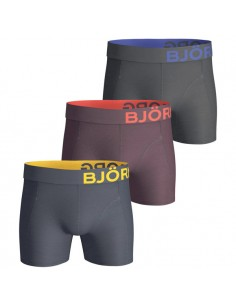 Björn Borg Boxershorts 3Pack Seasonal Solids Total Eclipse Colour