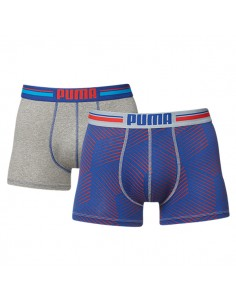 Puma Boxershorts Tooth Red Blue 2Pack