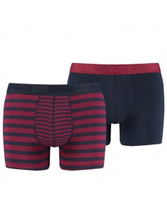 Puma Boxershorts Striped Colour Block Rhododendron 2Pack