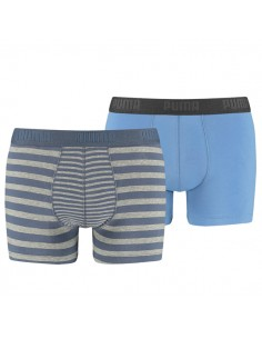 Puma Boxershorts Striped Colour Block Vintage Indigo 2Pack