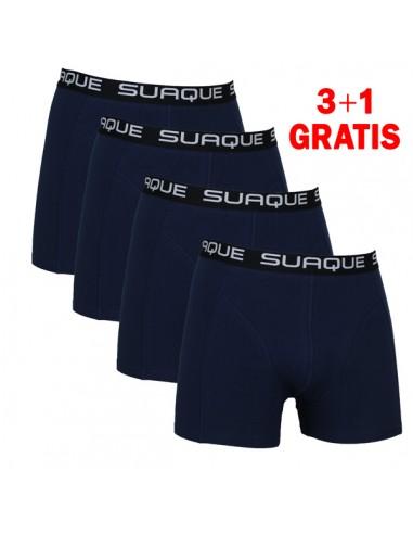 Suaque Navy Boxershorts 3+1 pack