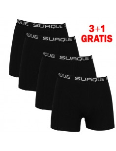 Suaque Black Boxershorts 3+1 pack