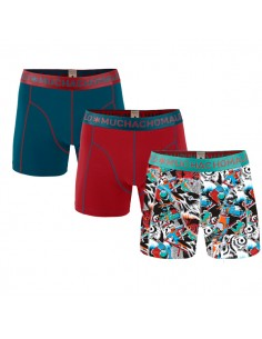 MuchachoMalo Autumn Winter & Solid 155 3Pack Jongens Boxershorts