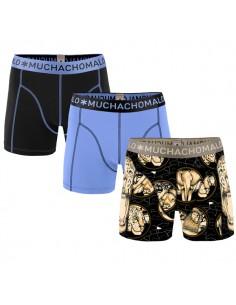 MuchachoMalo Wildlife & Solid 157 3Pack Jongens Boxershorts