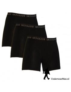 Giovanni Boxershorts 3 stuks Zwart heren ondergoed