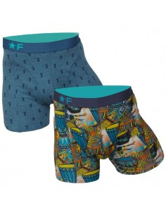 Funderwear boxershorts 2 pack Rhythms and Beats Djembe Petrol