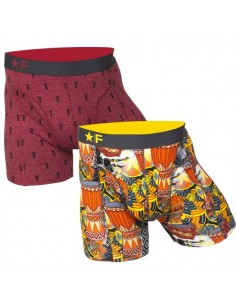 Funderwear boxershorts 2 pack Rhythms and Beats Djembe bordeaux