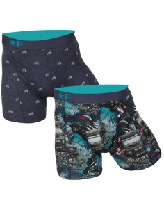 Funderwear boxershorts 2 pack Jeep Jungle Navy