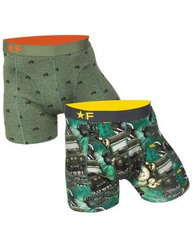 Funderwear boxershorts 2 pack Jeep Jungle Khaki