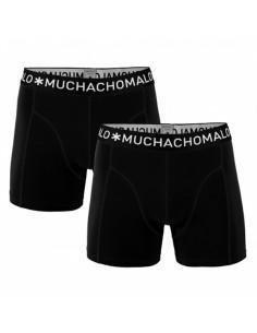 MuchachoMalo Black Solid Duopak Heren Boxershort