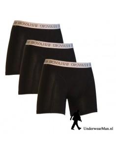 Giovanni Boxershorts Zwart-Wit 3pak Heren Ondergoed
