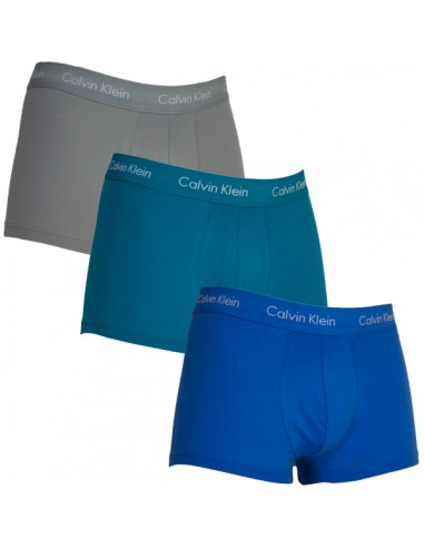 Calvin Klein Ondergoed Cotton Stretch Color Band 3Pack Low Rise Blue Black Navy