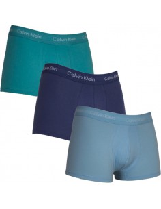 Calvin Klein Ondergoed Color Green Blue 3Pack low rise trunk