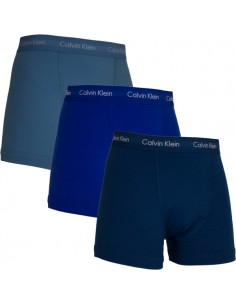 Calvin Klein Ondergoed Cotton Stretch 3Pack Color Mix Trunk Fresh Blue