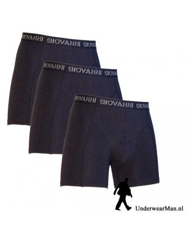 Giovanni Boxershorts 3 pak blauw Heren Ondergoed