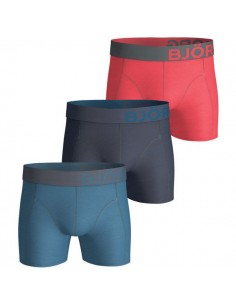 Björn Borg Boxershorts 3Pack Seasonal Solids Moroccan Blue