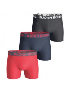 Björn Borg Boxershorts 3Pack Seasonal Solids True Red