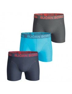 Björn Borg Boxershorts 3Pack Seasonal Solids Total Eclipse