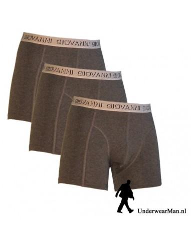 Giovanni Boxershorts Antraciet 3pak Heren Ondergoed