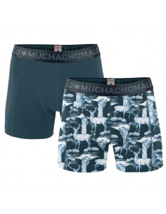 MuchachoMalo Cotton Modal Deer 2Pack Heren Boxershorts