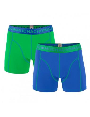 MuchachoMalo Solid 159 Cobalt Green Duopak Heren Boxershorts