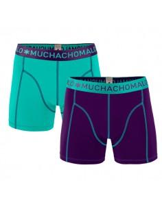 MuchachoMalo Solid 164 Purple Cyaan Duopak Heren Boxershorts