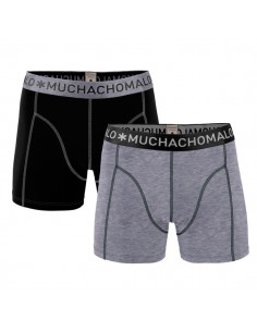 MuchachoMalo Solid 162 Grey Black 2Pack Kinder Ondergoed