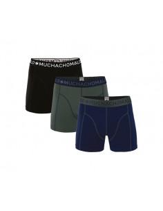 MuchachoMalo Solid 186 Deep 3Pack Heren Boxershorts