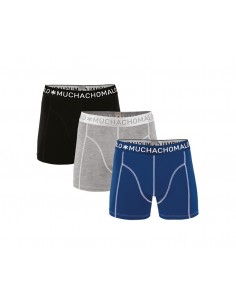 MuchachoMalo Blue Grey Black Solid 187 3Pack Jongens Boxershorts