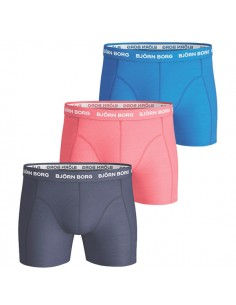 Björn Borg Boxershorts 3Pack Seasonal Solids Peacoat