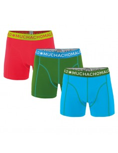 MuchachoMalo Solid 182 Aqua Green Red 3Pack Heren Boxershorts