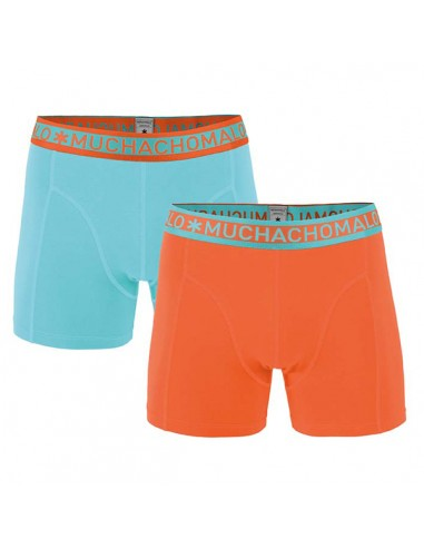 MuchachoMalo Solid 179 Orange Mint Duopak Heren Boxershorts