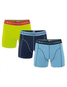 MuchachoMalo Blue Navy Green Solid 181 3Pack Jongens Boxershorts