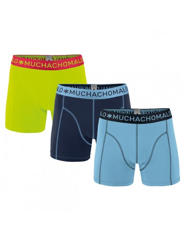 MuchachoMalo Blue Navy Green Solid 187 3Pack Jongens Boxershorts