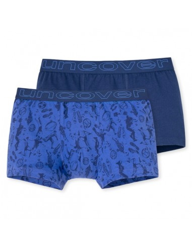 Uncover Trunk Short 2Pack mixed Schiesser purple cool