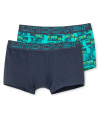 Uncover Trunk Short 2Pack mixed Schiesser Aqua blue