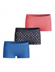 Bjorn Borg Meisjes 3Pack Seasonal Solid on the dots Mini Shorts