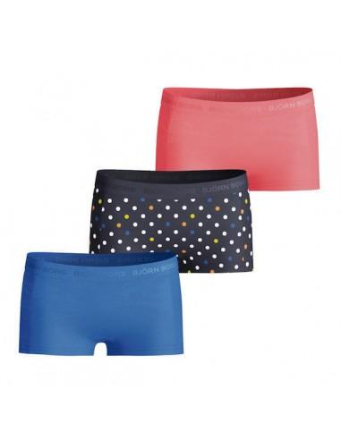 Bjorn Borg Meisjes 3Pack Seasonal Solid on the dots Mini Shorts